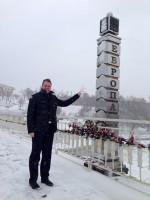 Am östlichen Ende von Europa in Orenburg: Kai-Uwe Gundermann. / Privat