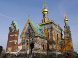 Die russische Kapelle und der Hochzeitsturm in Darmstadt / Sonja Vogel
